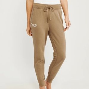 Abercrombie & Fitch sweatpant joggers camel MED